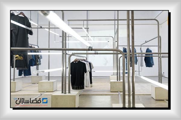 رگال برای فروشگاه پوشاک | قفسه بندی فضاسازان امین