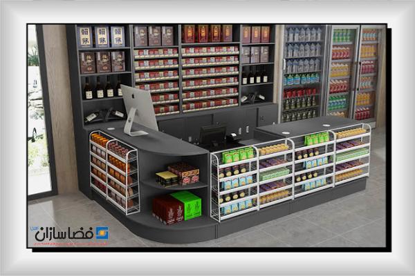 قفسه بندی فروشگاهی خرده فروشی | قفسه بندی فضاسازان امین